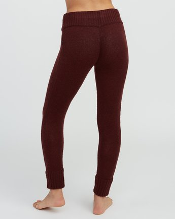 4 Creepin Sweater Knit Leggings Pink WL07SRCR RVCA