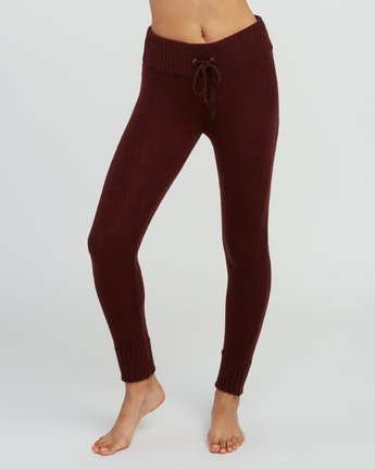 1 Creepin Sweater Knit Leggings Pink WL07SRCR RVCA