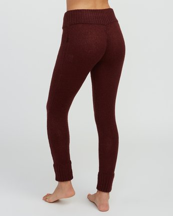 3 Creepin Sweater Knit Leggings Pink WL07SRCR RVCA