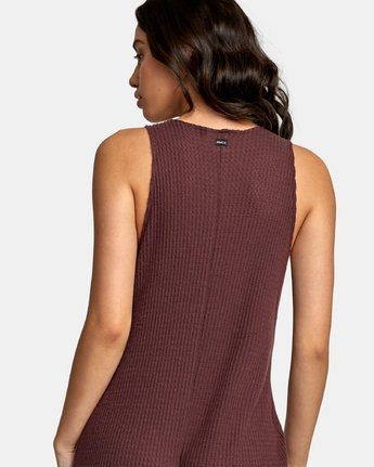 3 Singular Thermal Knit Jumpsuit Brown WL07WRSI RVCA