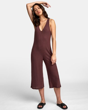 0 Singular Thermal Knit Jumpsuit Brown WL07WRSI RVCA