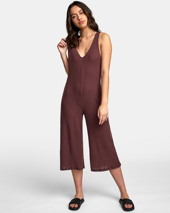 1 Singular Thermal Knit Jumpsuit Brown WL07WRSI RVCA