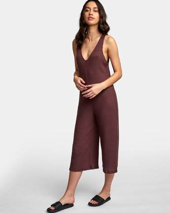 2 Singular Thermal Knit Jumpsuit Brown WL07WRSI RVCA