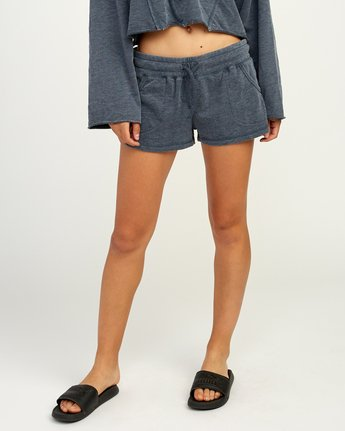 0 Ava Fleece Soft Short Blue WL08TRAS RVCA
