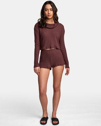 3 Blushing Thermal Knit Top Brown WL08WRBL RVCA