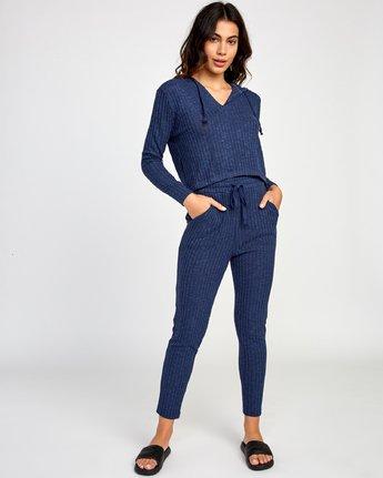 4 Mesa Knit Pullover Top Blue WL09VRME RVCA