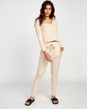 5 Mesa Knit Pullover Top Beige WL09VRME RVCA