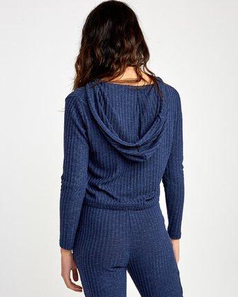 2 Mesa Knit Pullover Top Blue WL09VRME RVCA