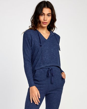 0 Mesa Knit Pullover Top Blue WL09VRME RVCA