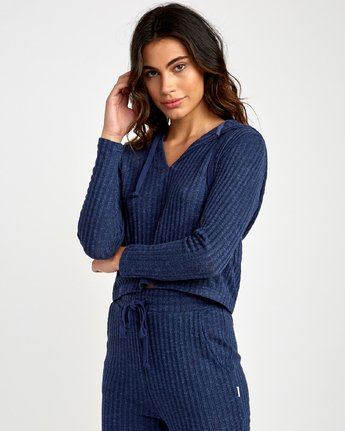 1 Mesa Knit Pullover Top Blue WL09VRME RVCA
