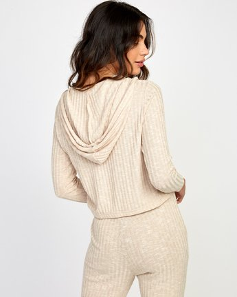 3 Mesa Knit Pullover Top Beige WL09VRME RVCA