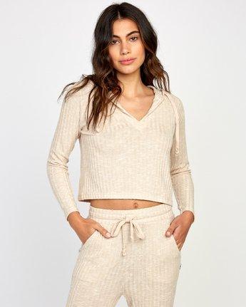 1 Mesa Knit Pullover Top Beige WL09VRME RVCA