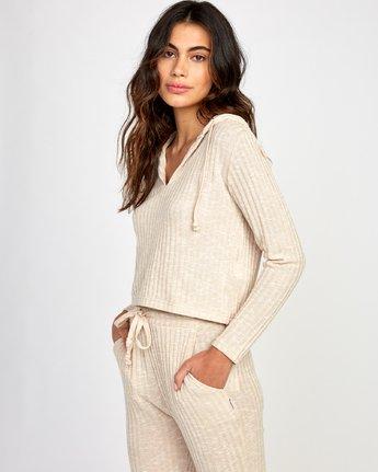 2 Mesa Knit Pullover Top Beige WL09VRME RVCA