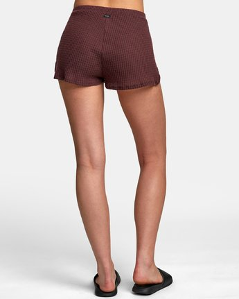 1 Balboa Thermal Knit Shorts Brown WL09WRBA RVCA