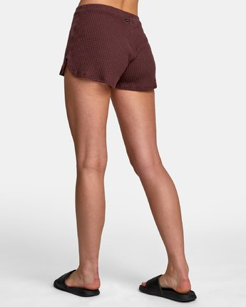 3 Balboa Thermal Knit Shorts Brown WL09WRBA RVCA