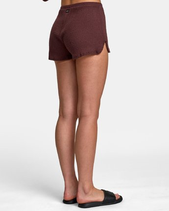 4 Balboa Thermal Knit Shorts Brown WL09WRBA RVCA