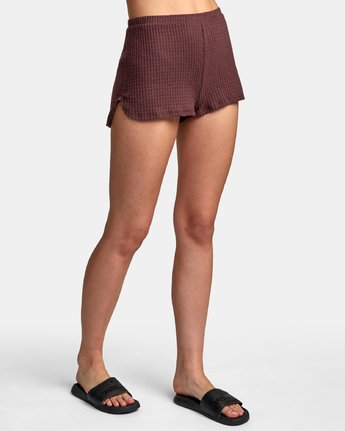 5 Balboa Thermal Knit Shorts Brown WL09WRBA RVCA