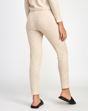 3 Twilight Knit Lounge Pant Beige WL10VRTW RVCA