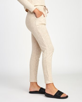 4 Twilight Knit Lounge Pant Beige WL10VRTW RVCA