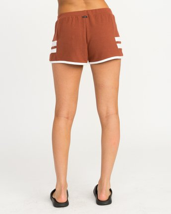 3 Julep Fleece Soft Short Brown WL12QRJU RVCA