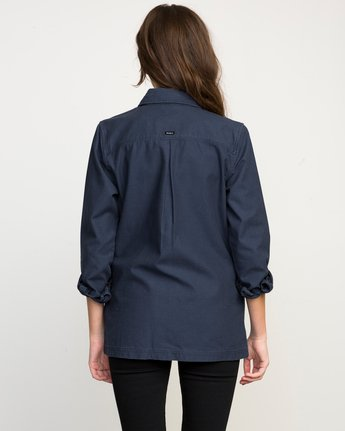 2 Bygone Button-Up Shirt Jacket Blue WL701BYG RVCA