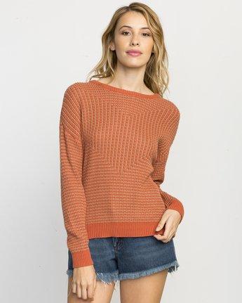 0 Light Up Knit Sweater Pink WLVV02LI RVCA