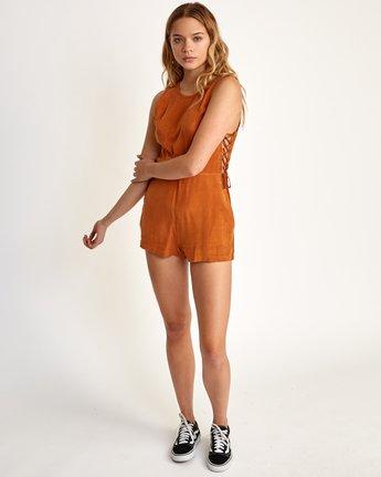 5 Freddie Woven Romper Orange WN01TRFR RVCA