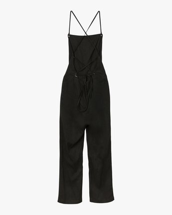 5 Free Fall Wide Leg Jumpsuit Black WN02SRFR RVCA