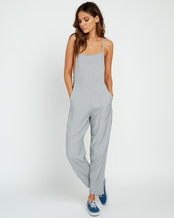 5 Danforth Striped Woven Overall Black WN02URDA RVCA