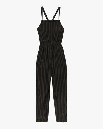 5 Split Overall Jumpsuit Black WN03SRSP RVCA