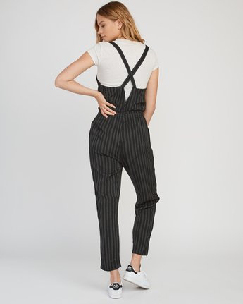 2 Split Overall Jumpsuit Black WN03SRSP RVCA