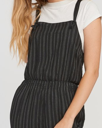 3 Split Overall Jumpsuit Black WN03SRSP RVCA