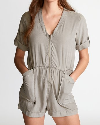 3 Drove Out Romper Grey WN03VRDR RVCA