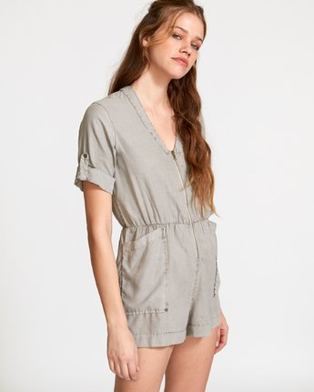 1 Drove Out Romper Grey WN03VRDR RVCA