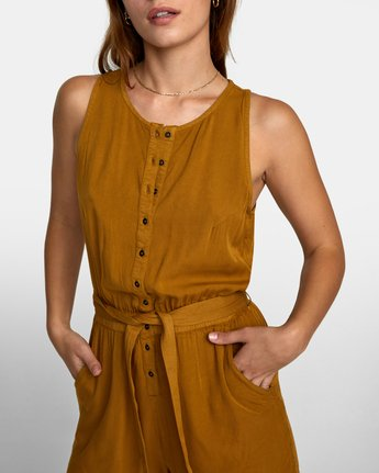 5 LATTER LOUNGE ROMPER Brown WN041RLA RVCA