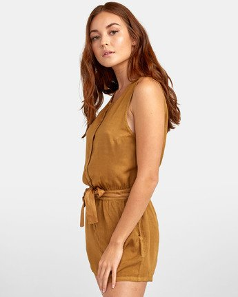 4 LATTER LOUNGE ROMPER Brown WN041RLA RVCA