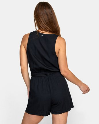 4 LATTER LOUNGE ROMPER Black WN041RLA RVCA