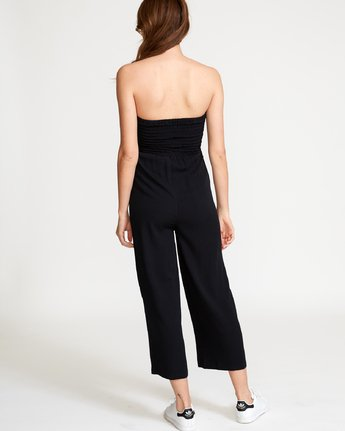 4 Social Strapless Jumpsuit Black WN04VRSO RVCA