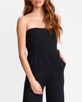 5 Social Strapless Jumpsuit Black WN04VRSO RVCA