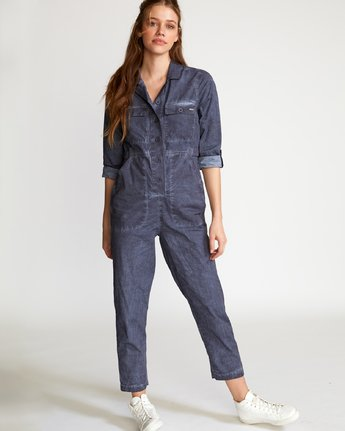 0 Arlo Washed Coverall Blue WN07VRAR RVCA
