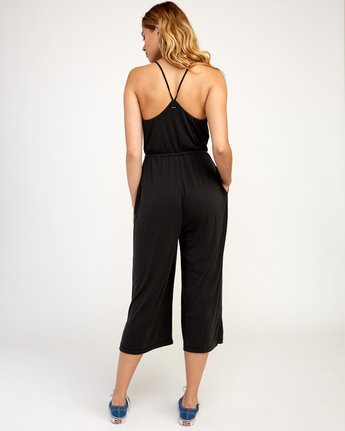 4 Jarvis Knit Jumpsuit Black WN08TRJJ RVCA