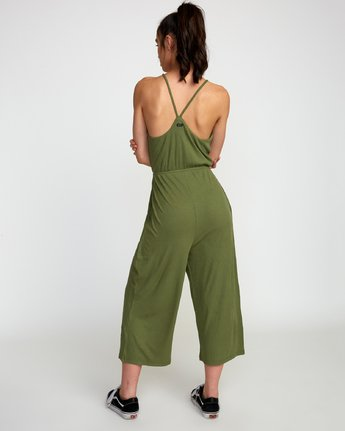 2 Jarvis Knit Jumpsuit Green WN08TRJJ RVCA