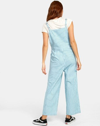 1 SHOUTOUT STRIPED JUMPSUIT Green WN091RSS RVCA