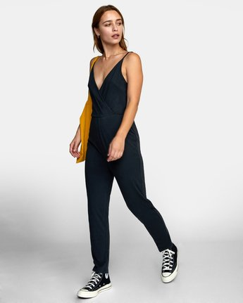 2 CITRA KNIT JUMPSUIT Black WN101RCI RVCA