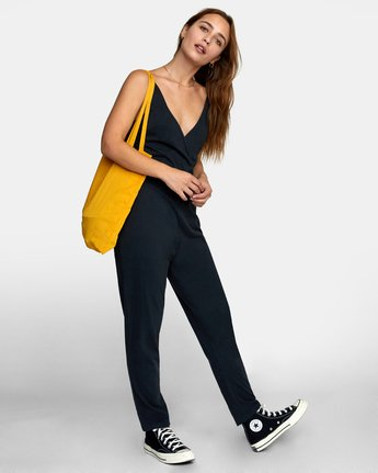 3 CITRA KNIT JUMPSUIT Black WN101RCI RVCA
