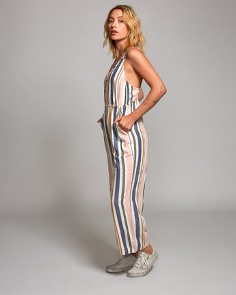 2 Ursan Striped Jumpsuit Grey WN17URUR RVCA