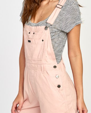 3 Sloucher Overall Pink WN31VRSL RVCA