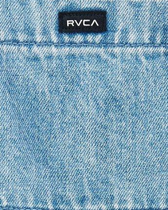 4 Sloucher Denim Overall Blue WN70WRSL RVCA