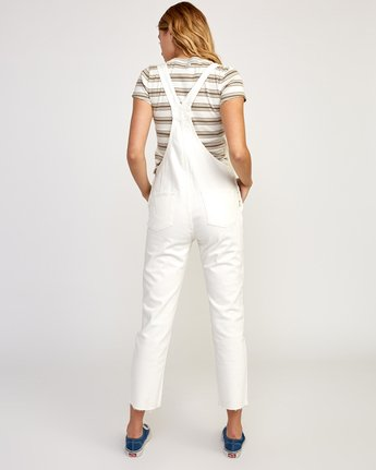 2 Reworked Denim Overall White WN75TRRO RVCA