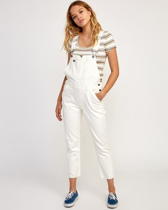 0 Reworked Denim Overall White WN75TRRO RVCA
